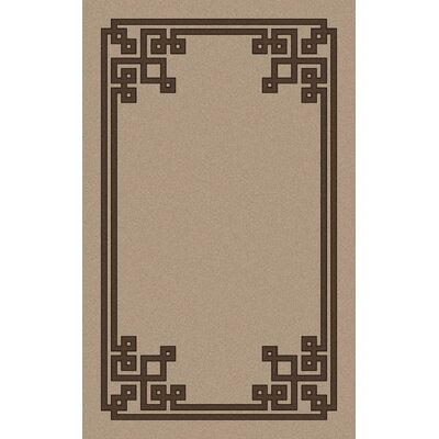 Eugenie Beige/Brown Area Rug Rug Size: Rectangle 5 x 8
