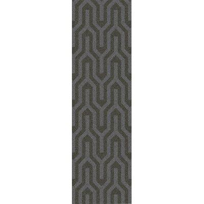 Burchfield Taupe Geometric Rug Rug Size: Runner 26 x 8