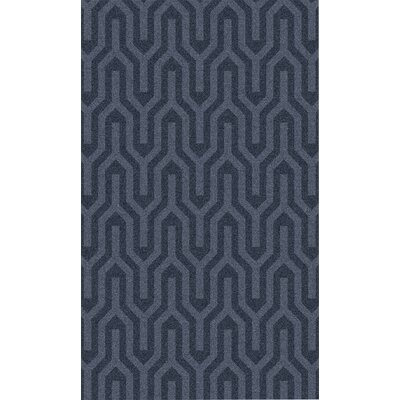 Burchfield Navy Geometric Rug Rug Size: Rectangle 36 x 56