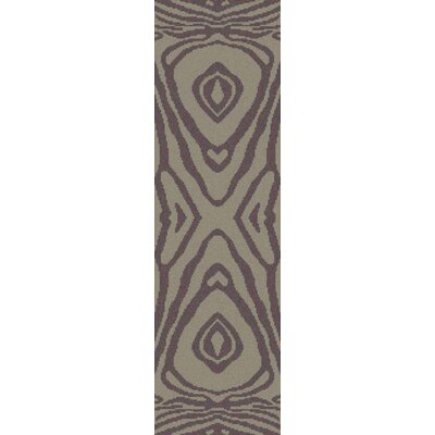 Aubriana Hand Woven Wool Brown Area Rug Rug Size: Runner 26 x 8