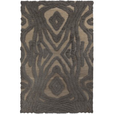 Aubriana Hand Woven Wool Brown Area Rug Rug Size: Rectangle 5 x 8