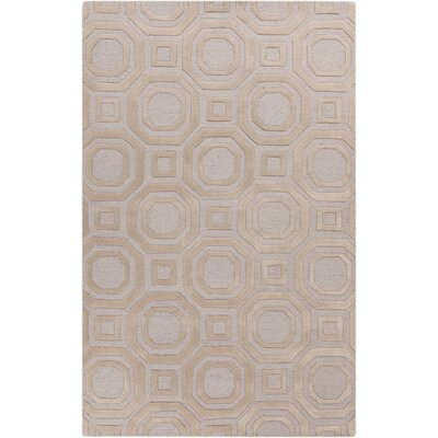 Sandi Hand-Tufted Beige Area Rug Rug Size: Rectangle 5 x 8