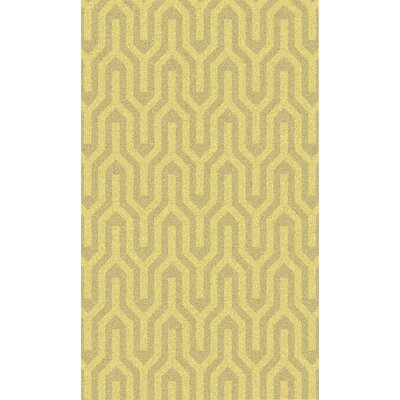 Burchfield Gold Geometric Rug Rug Size: 36 x 56