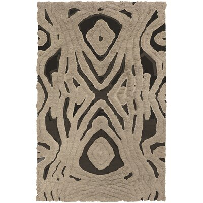 Aubriana Hand-Woven Taupe Area Rug Rug Size: Rectangle 36 x 56
