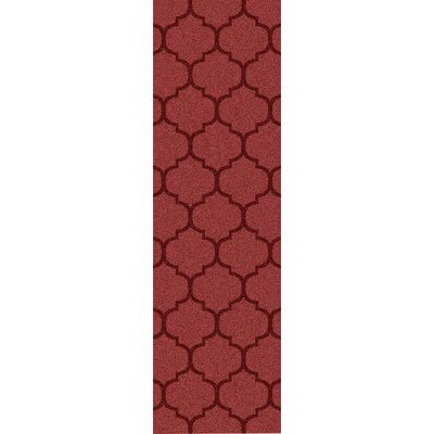 Clarington Red Geometric Rug Rug Size: Runner 26 x 8
