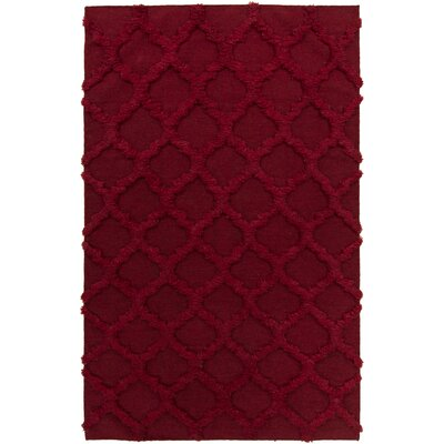 Clarington Red Geometric Rug Rug Size: Rectangle 3'6