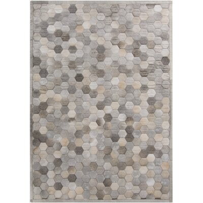 Penelope Hand Crafted Gray Area Rug Rug Size: 5 x 8