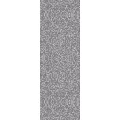 Alivia Light Gray Oriental Area Rug Rug Size: Runner 26 x 8