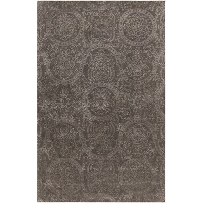 Alivia Light Gray Oriental Area Rug Rug Size: 5 x 8
