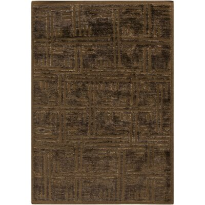 Harlan Chocolate Area Rug Rug Size: Rectangle 33 x 53