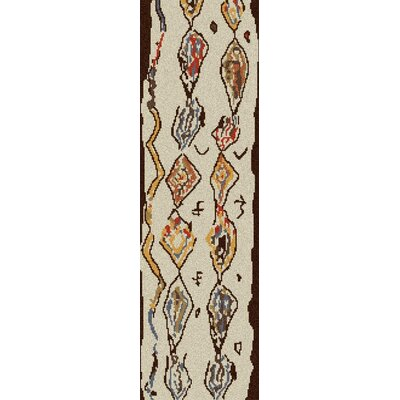 Aubriana Hand Woven Wool Beige Area Rug Rug Size: Runner 26 x 8