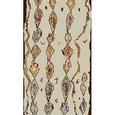 Aubriana Hand Woven Wool Beige Area Rug Rug Size: Rectangle 2 x 3