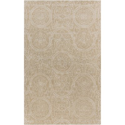 Alivia Beige Abstract Area Rug Rug Size: 5 x 8