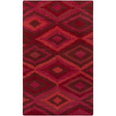 Crites Burgundy Geometric Rug Rug Size: Rectangle 8' x 11'