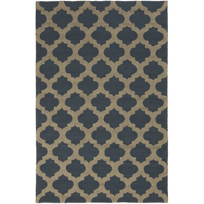 Durand Hand Hooked Black/Olive Area Rug Rug Size: Rectangle 5 x 76