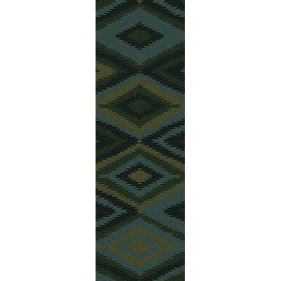 Crites Green Geometric Rug Rug Size: Runner 26 x 8