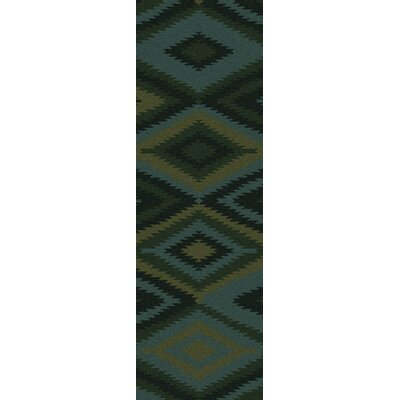 Crites Green Geometric Rug Rug Size: Runner 2'6