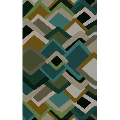 Envelopes Hand-Tufted Area Rug Rug Size: 5 x 8