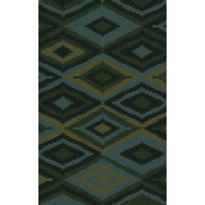 Crites Green Geometric Rug Rug Size: Rectangle 3'3