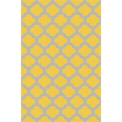 Durand Hand-Hooked Gold/Gray Area Rug Rug Size: Rectangle 5 x 76