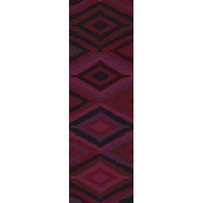 Crites Burgundy Geometric Rug Rug Size: Runner 26 x 8