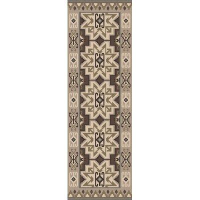 Jewel Tone II Hand-Woven Wool Taupe Area Rug Rug Size: Runner 26 x 8