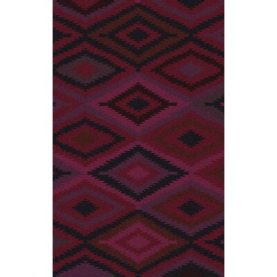 Crites Burgundy Geometric Rug Rug Size: Rectangle 8 x 11