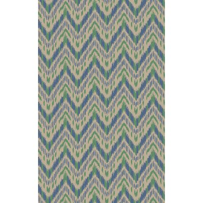 Crisler Green Chervon Area Rug Rug Size: Rectangle 5 x 8