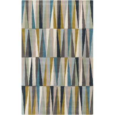 Vaughan Geometric Wool Area Rug Rug Size: Rectangle 5 x 8