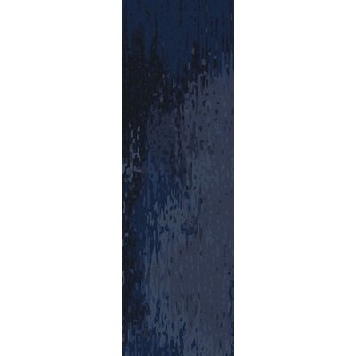 Johnna Navy Rug Rug Size: Runner 26 x 8