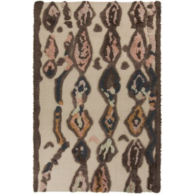 Aubriana Beige Hand Woven Rug Rug Size: Rectangle 36 x 56
