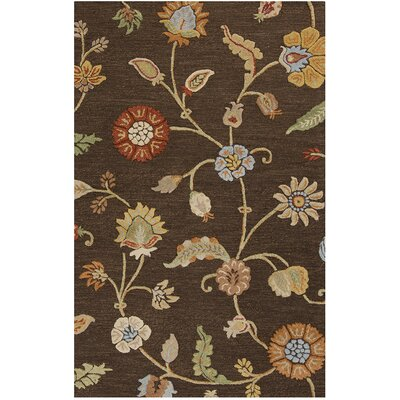 Stowe Chocolate Hand-Wowen Chocolate Area Rug Rug Size: 8 x 11