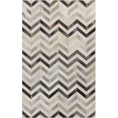 Ortega Light Gray/Charcoal Area Rug Rug Size: 2 x 3
