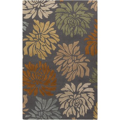 Keeney Grey Rug Rug Size: 5 x 8