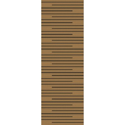 Huxley Black Rug Rug Size: Runner 26 x 8