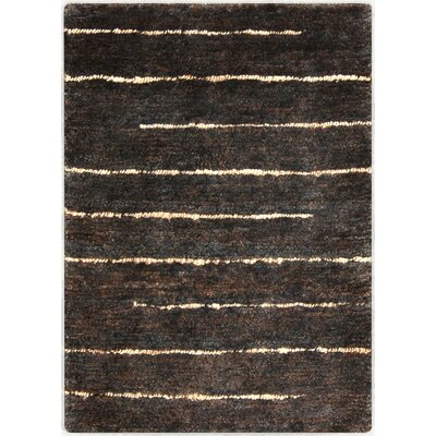 Levi Hand-Woven Black Area Rug Rug Size: Rectangle 2 x 3
