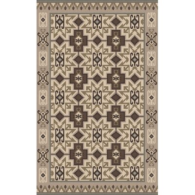 Jewel Tone II Hand-Woven Wool Taupe Area Rug Rug Size: Rectangle 5 x 8