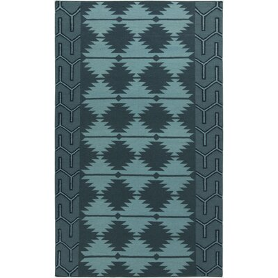 Lewis Teal Rug Rug Size: Rectangle 5 x 8