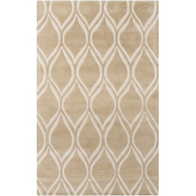 Omar Hand-Tufted Taupe Area Rug Rug Size: Rectangle 5 x 8
