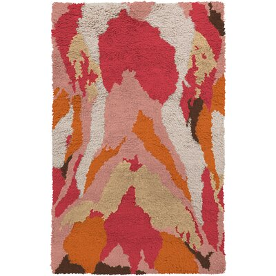 Leora Hand-Woven Pastel Pink Area Rug Rug Size: Rectangle 5 x 8