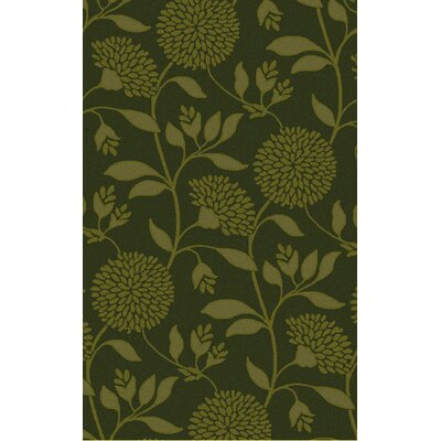 Tuscany Hand-Tufted Lime Floral Area Rug Rug Size: 2 x 3