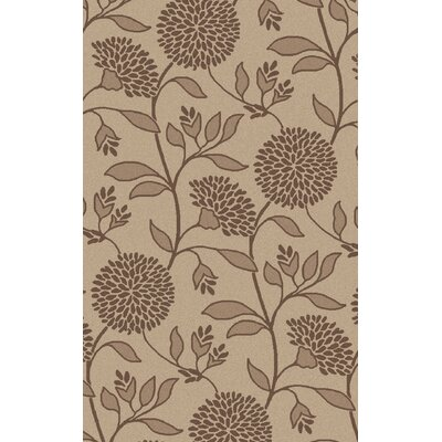Tuscany Hand-Tufted Taupe Floral Area Rug Rug Size: Rectangle 2 x 3