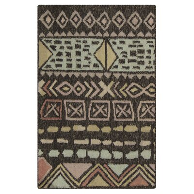 Avis Handmade Brown/Blue Area Rug Rug Size: 8 x 11