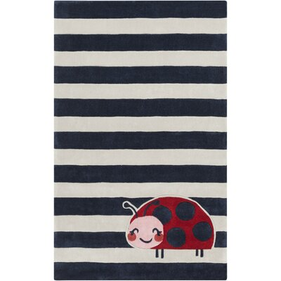 Cherish Hand-Tufted Navy/Gray Kids Rug Rug size: Rectangle 8' x 11'