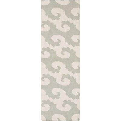 Byington Coastal Hand-Woven Wool Moss Area Rug Rug size: Runner 26 x 8