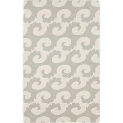 Byington Coastal Hand-Woven Wool Moss Area Rug Rug size: Rectangle 5 x 8