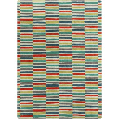 Futch Hand-Tufted Red/Blue Area Rug Rug Size: Rectangle 8 x 11