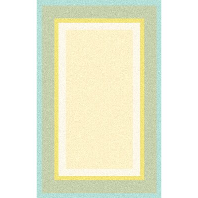 Cherish Hand-Tufted Beige/Blue Area Rug Rug Size: 8 x 11
