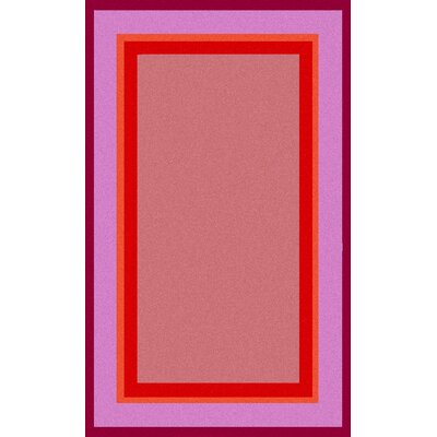 Color Block Pink Rug Rug Size: Rectangle 5 x 8