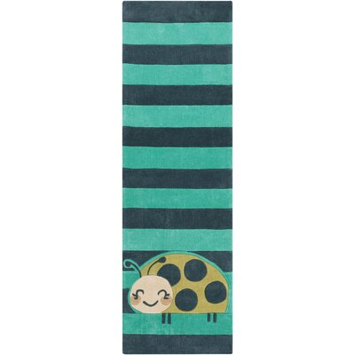 Cherish Teal Area Rug Rug size: Runner 26 x 8